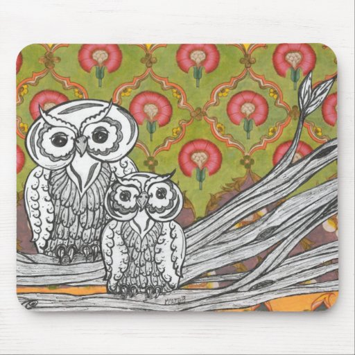 owls4 mouse pad