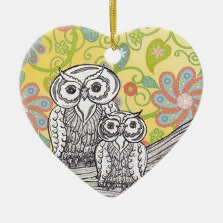 Owls 03 christmas ornament