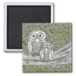 Owls 10 refrigerator magnet