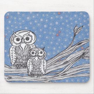 Owls 13 mousepad