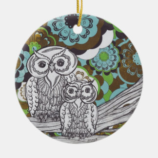 Owls 34 christmas ornament