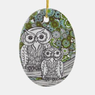 Owls 35 christmas ornament
