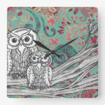 Owls 48 Clock
