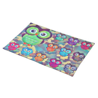 Owls and Colors Placemat