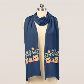 owls and flowers scarf