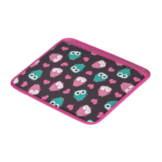 Owls and Hearts MacBook Sleeves