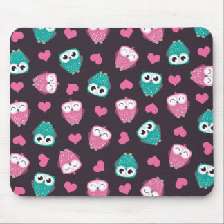 Owls and Hearts Mousepad