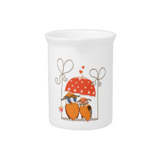 Owls and Hearts Pitcher