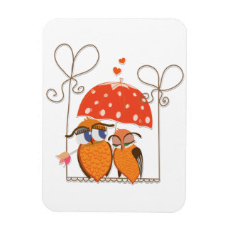Owls and Hearts Flexible Magnet