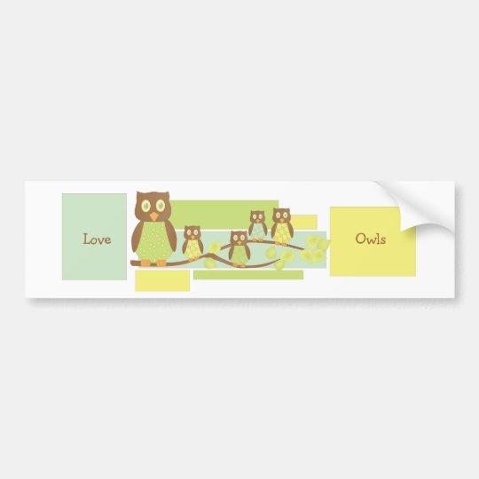 Owls and Owls Bumper Sticker