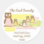 Owls and Owls II Round Sticker
