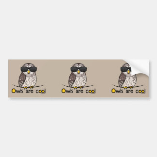 Owls are cool bumper stickers