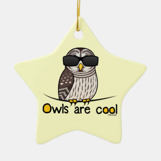 Owls are cool christmas ornament