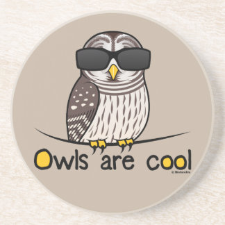 Owls are cool coaster