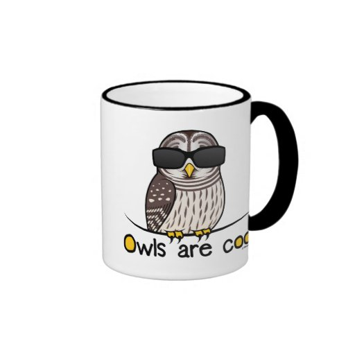 Owls are cool! coffee mugs