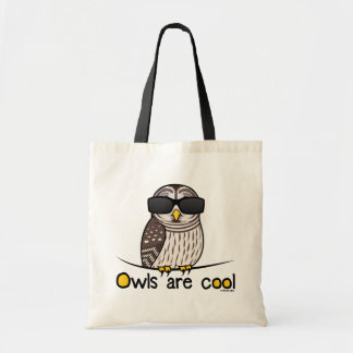 Owls are cool tote bags
