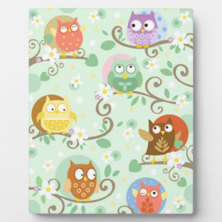 Owls Art Easel Plaque