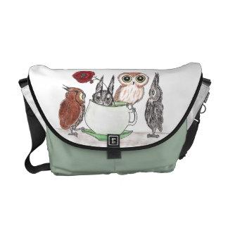 Owls at Teatime - Rickshaw Messenger Bag
