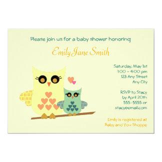 Owls Baby Shower Invitation