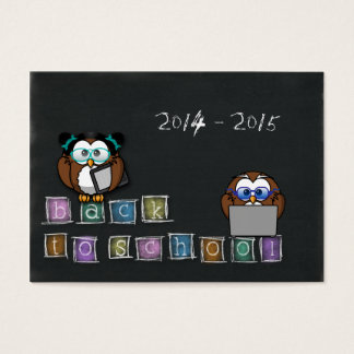 owl's back to school business card