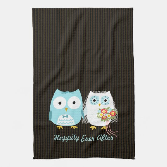 Owls Bride and Groom - Happily Ever After