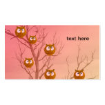 Owls Business Cards Template