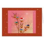 Owls Christmas Card