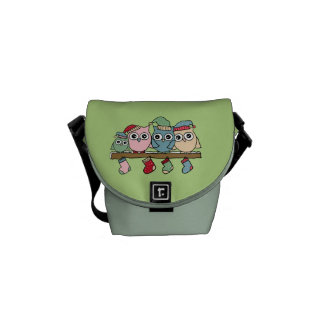 Owls Christmas Courier Bags