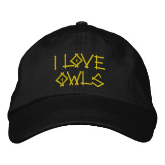 OWLS EMBROIDERED HAT