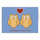 Owls Gay Wedding Card for Grooms