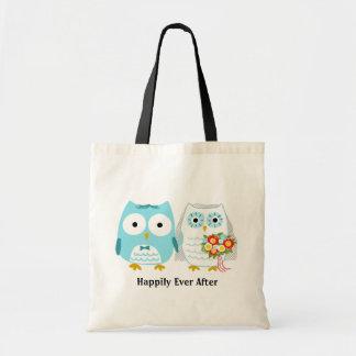 Owls Getting Married - Cute Bride and Groom