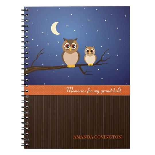 Owls Grandchild Memories Notebook