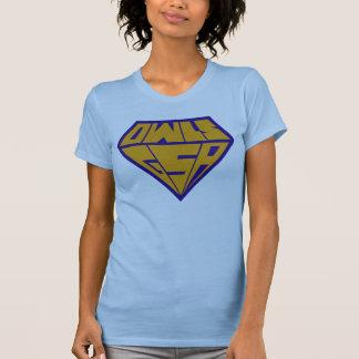 Owls GSA Superhero Logo Blue and Yellow T-Shirt