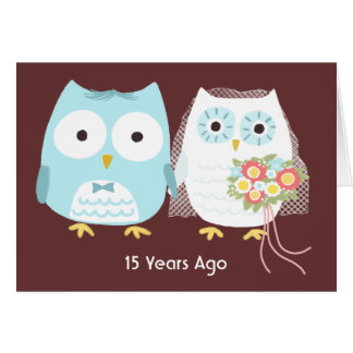 Owls Happy Anniversary Card