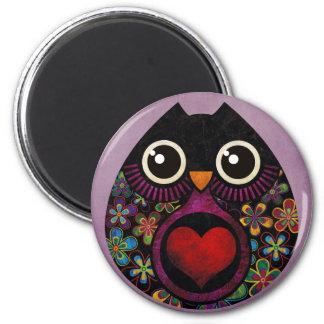 Owl's Hatch 6 Cm Round Magnet