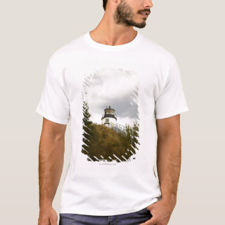 Owl's Head Lighthouse on a Cloudy Day T-Shirt