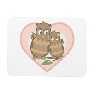 Owls Hearts Love Rectangle Magnets