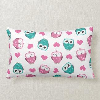 Owls Hearts Lumbar Pillow
