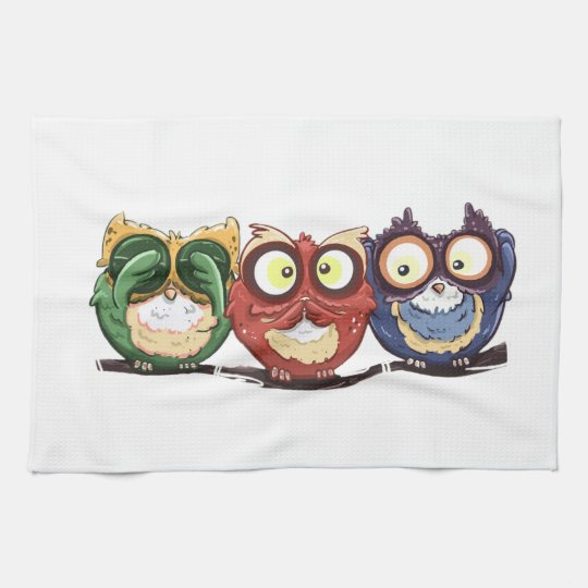 Owls Hoot See Speak Hear No Evil Tea