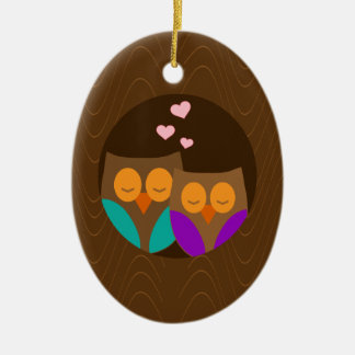Owls in a Nest Christmas Ornament