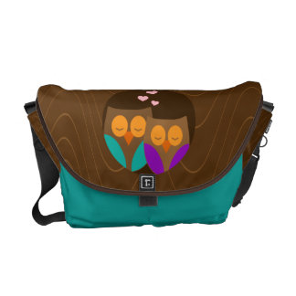Owls in a Nest Courier Bag
