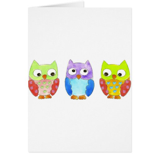 Owls in a Row Cards