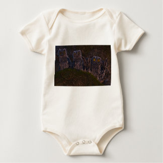 Owls in an Oak Hollow Baby Bodysuit
