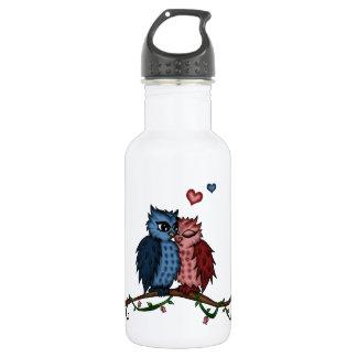 owls in love 532 ml water bottle