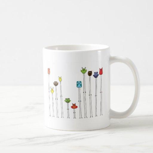 Owls In Multicolors Mug