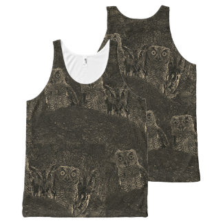 Owls in the Oaks All-Over Print Tank Top