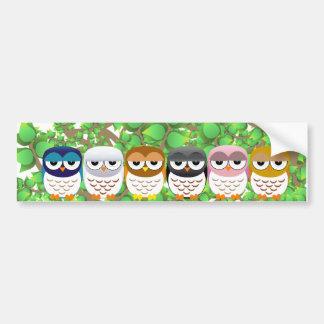 owls in tree bumper stickers