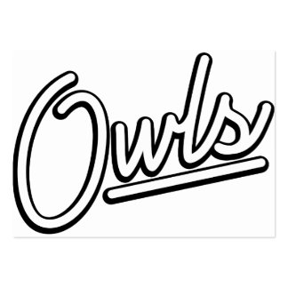 Owls in white business card