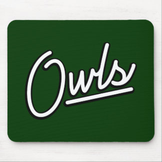 Owls in white mousepads