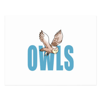 OWLS MASCOT POSTCARD